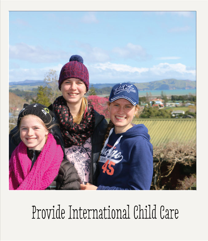 Image of an au pair with children